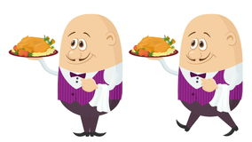 Waiter with Turkey, Seamless Loop stock footage