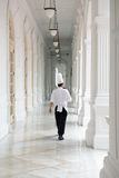 Waiter in uniform in the Raffles Hotel Royalty Free Stock Photo