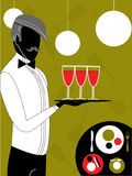 Waiter, vector Royalty Free Stock Images