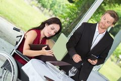 Waiter waiting for order Stock Images