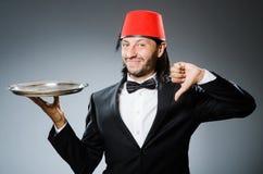 Waiter wearing Royalty Free Stock Image