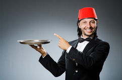 Waiter wearing Stock Photo