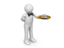 Waiter at your service Royalty Free Stock Photo