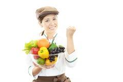 Waiteress asiatici sorridenti Fotografie Stock