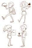 Waiters and waitresses Stock Image