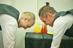 Waiters work Stock Photos