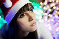 Waithing for christmas gift  Stock Photography
