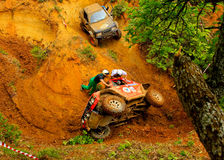Waiting. Off-road race - Evros Trophy 2011 Greece Stock Photo