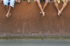Waiting. Followers of the Nazarene Royalty Free Stock Images