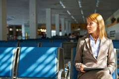 Waiting for airplane Royalty Free Stock Image