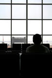 Waiting at the Airport Stock Photography