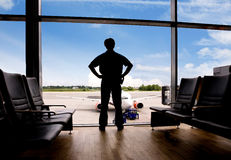 Waiting at Airport Stock Image