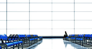 Waiting in the airport Royalty Free Stock Image