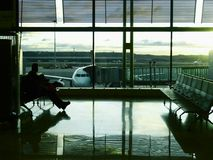 Waiting in the airport Stock Photography