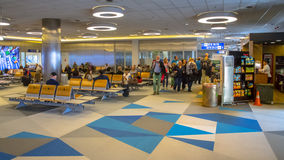 Waiting area on airport Stock Images