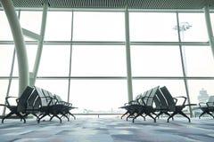 Waiting area in the airport gate at Hongkong International Airport Royalty Free Stock Photo