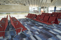 Waiting area in the airport gate at Hongkong International Airport Royalty Free Stock Images