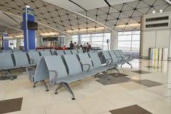 Waiting area in the airport gate at Hongkong International Airport Stock Photos