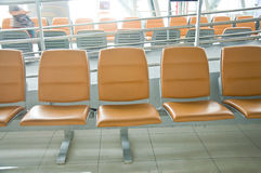 Waiting area in the airport gate Royalty Free Stock Images