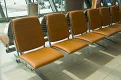 Waiting area in the airport gate Stock Photos