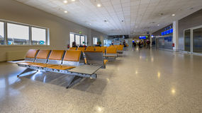 Waiting area on airport passenger terminal Royalty Free Stock Images