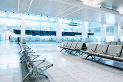 Waiting area in airport terminal Stock Photo