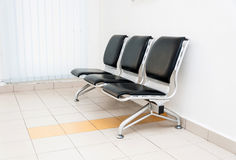 Waiting area empty with chairs Stock Image