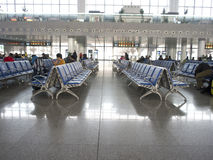 Waiting area of High-speed railway station. Of South Nanjing Royalty Free Stock Images