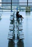Waiting area Hongqiao Airport, Shanghai, China Stock Photo