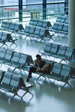 Waiting area Hongqiao Airport, Shanghai, China Royalty Free Stock Image