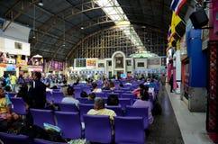 Waiting area main hall of Hua Lamphong train station Bangkok Thailand Stock Images
