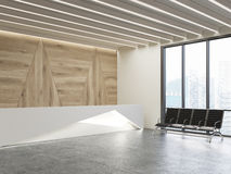 Waiting area with original reception desk Stock Images