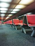 Waiting area. Red seat in boarding area of Donmuang International Airport ,Bangkok ,Thailand Royalty Free Stock Photos