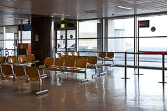 Waiting area at small airport stock photo