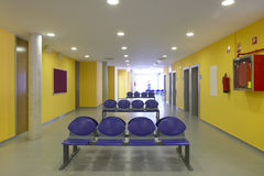 Waiting area and surgery rooms at Clinic center Royalty Free Stock Photos