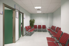 Waiting area and surgery rooms at Clinic center Royalty Free Stock Image