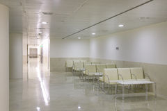 Waiting area and surgery rooms at Clinic center Stock Photography