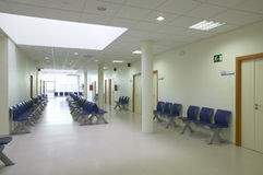 Waiting area and surgery rooms at medical center Stock Photography