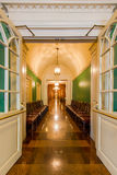 Waiting area to historic hotel Royalty Free Stock Images