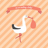 We are waiting a baby Stock Photography