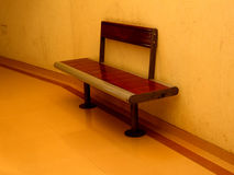 The Waiting Bench. A waiting bench at an office in India Royalty Free Stock Photos