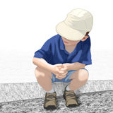 Waiting boy Stock Photo