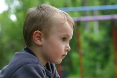 Waiting boy Stock Photography