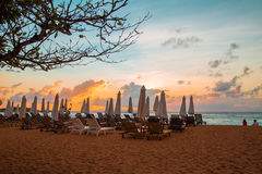 Waiting a brand new day.. Sunrise at Mengiat Beach Bali, Indonesia Stock Photography
