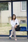 Waiting for a bus Royalty Free Stock Images