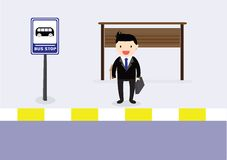 Waiting bus Royalty Free Stock Image