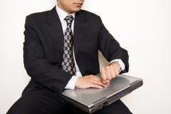 Waiting businessman Stock Photos