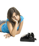 Waiting for a call Royalty Free Stock Photo