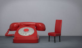 Waiting for a call Royalty Free Stock Image
