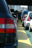 Waiting cars. Cars waiting in heavy traffic Royalty Free Stock Image